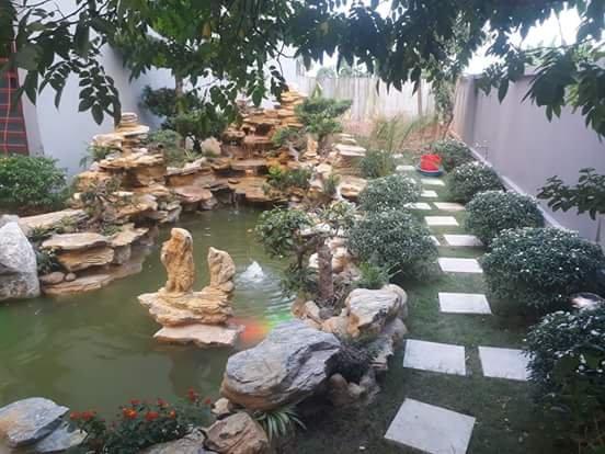 đá lót sân vườn