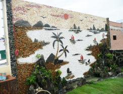 Non bộ sân vườn tranh đá ở quận 2